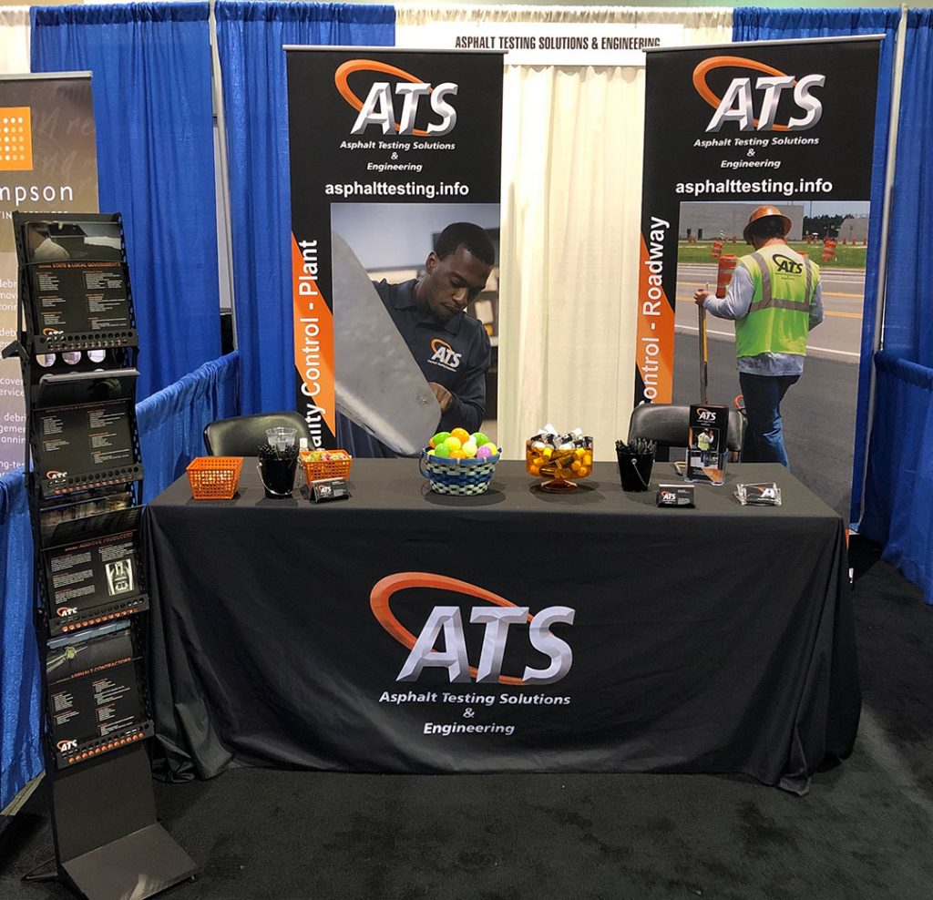 Asphalt Testing Solutions & Engineering booth at Florida Public Works Expo