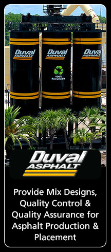 Provides asphalt mix designs, quality control and quality assurance for asphalt production and placement