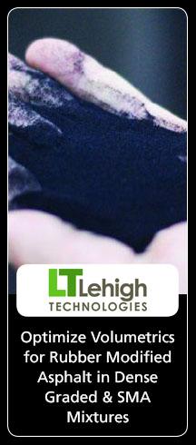 Lehigh Technologies Optimize Volumetrics for Rubber Modified Asphalt in Dense Graded & SMA Mixtures
