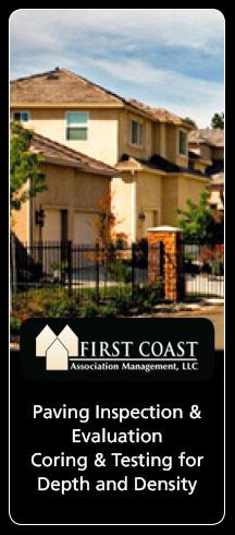 First Coast Association Management Asphalt Pavement Inspection