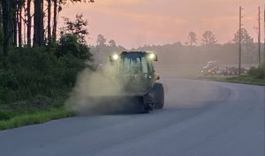 Picture of sweeper on asphalt road