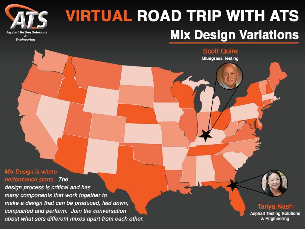 Map of the USA for Asphalt Mix Design Variation Webinar Title