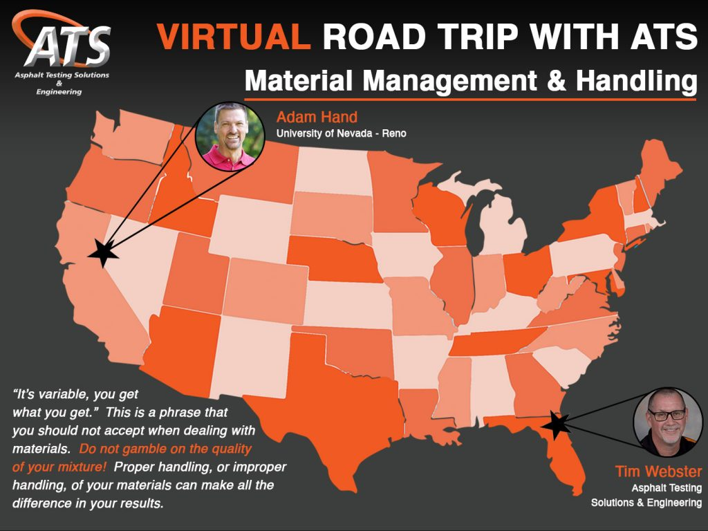 Map of the USA for Material Management & Handling Webinar Title