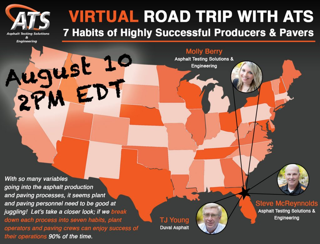Map of United States for 7 Habits of Highly Successful Producers and Pavers webinar