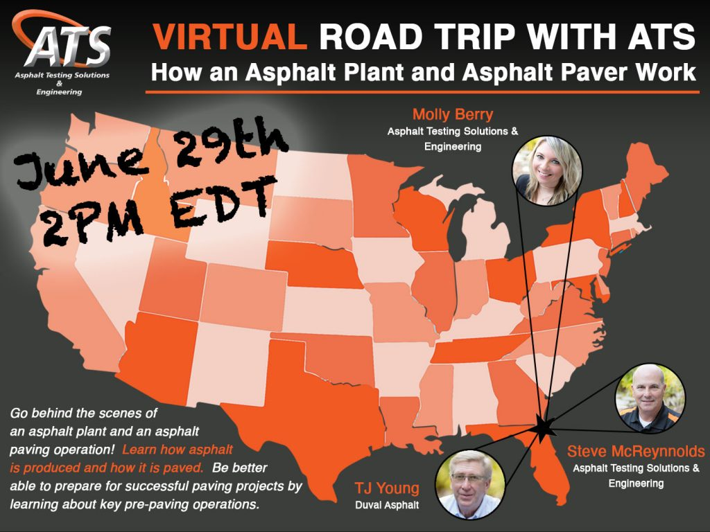 Map of United States for How an Asphalt Plant and Paver Works webinar