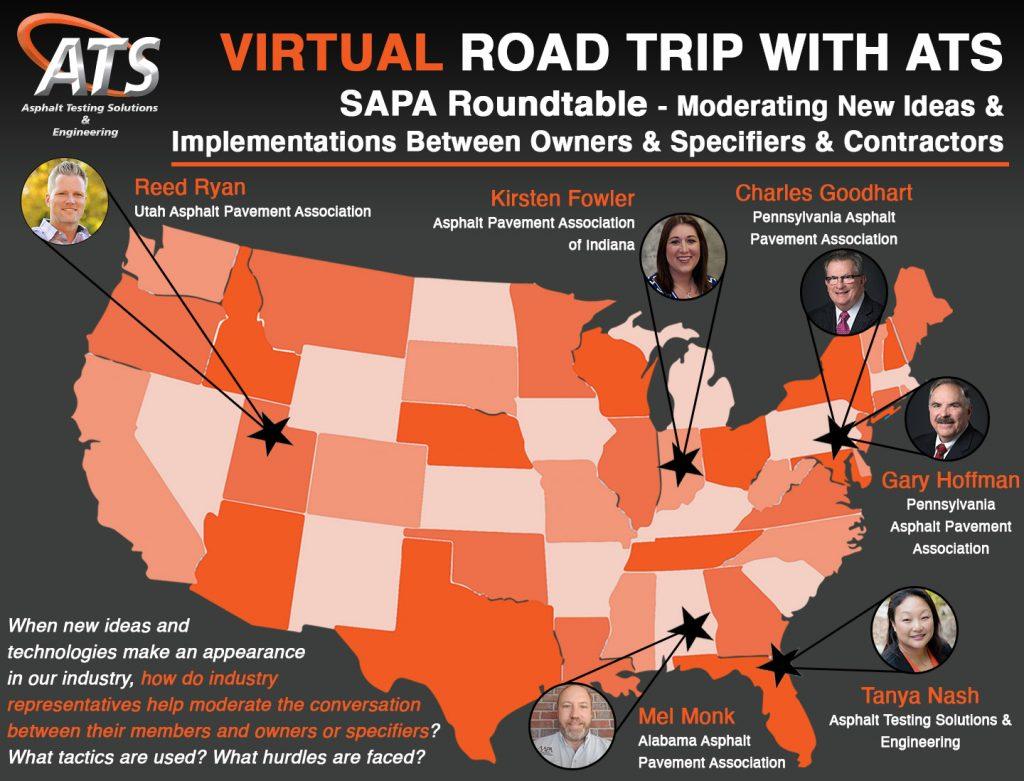 Map of United States for SAPA Roundtable webinar