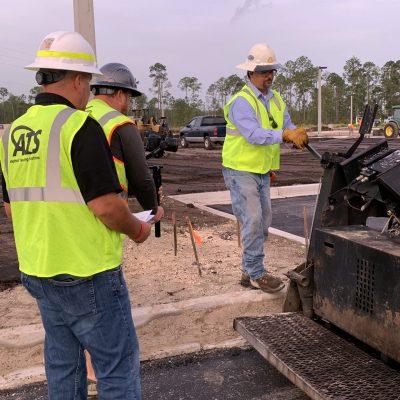 ATS on jobsite with asphalt paver